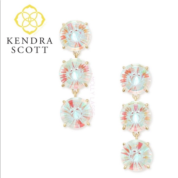 Kendra Scott Jolie Dichroic Glass Drop Earings